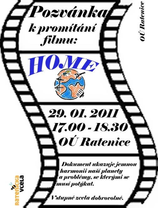 Pozvánka na promítání filmu HOME